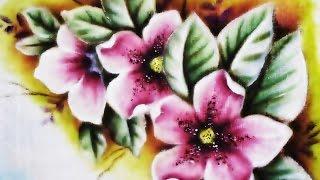 Azaleias – Pintura no Tecido
