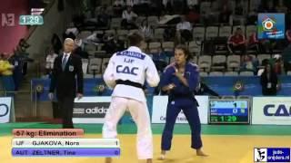 Judo 2012 European Championship U23 Prague: Gjakova (IJF) - Zeltner (AUT) [-57kg]