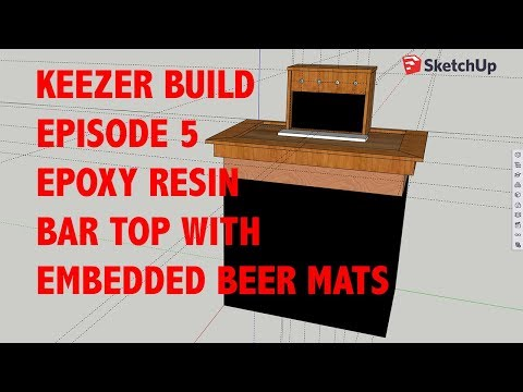 Keezer Build Episode 5 - Epoxy Resin Bar Top with Embedded Beer Mats