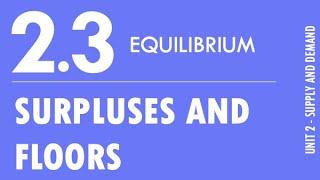 2.3 - Equilibrium (Surpluses and Floors)