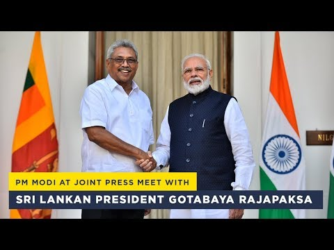 PM Modi at joint press meet with Sri Lankan President Gotabaya Rajapaksa