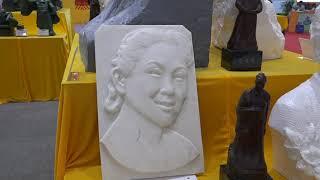 Памятники на выставке China international funeral expo (CIFE) 2018 в Ухане (Китай)