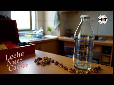 Botella de vidrio decorado Leche