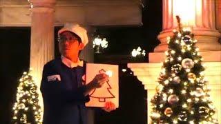 光を集めて・・・!ファンカスト・ミネザキさん(^^) 2017.11.18 ディズニーシー TDS クリスマスウィッシュ ナイトファンカスト