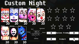 CUSTOM NIGHT & JUMPSCARES!!.. Five Nights at Baby's: a Sister Location Mod