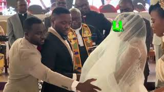 #Kency2020 Osei Kwame Despite's Son Kennedy Osei kisses wife Tracy ... drone delivers wedding ring!