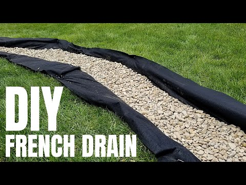 , title : 'DIY French Drain   Cheap Yard Drainage Solution   pt. 1