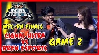2nd Game ng Grand Finals! Bren Esports vs Cignal Ultra | MPL PH Season 2 Finals