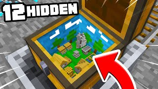 TOP 12 SECRET Tiny Villages Hidden in Minecraft ITEMS! ( Preston Minecraft)