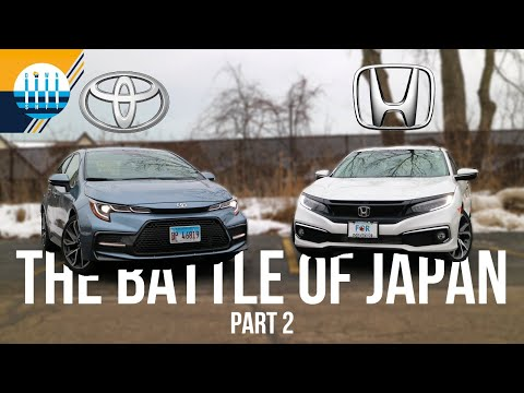 HONDA CIVIC vs TOYOTA COROLLA | The Battle of Japan: Part 2
