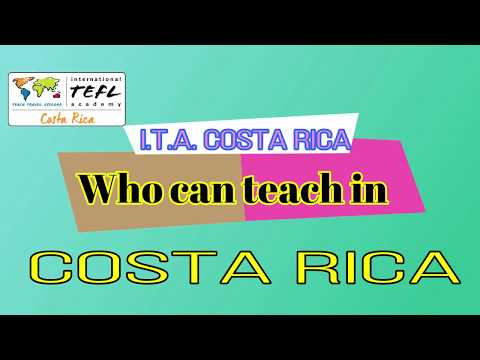 Who can teach English in Costa Rica?