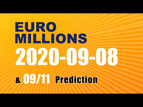 Winning numbers prediction for 2020-09-11|Euro Millions