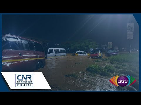Parts of Accra flooded after Monday downpour