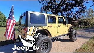 HOW TO BUILD A TRAILER HITCH FLAG POLE | Jeep Wrangler