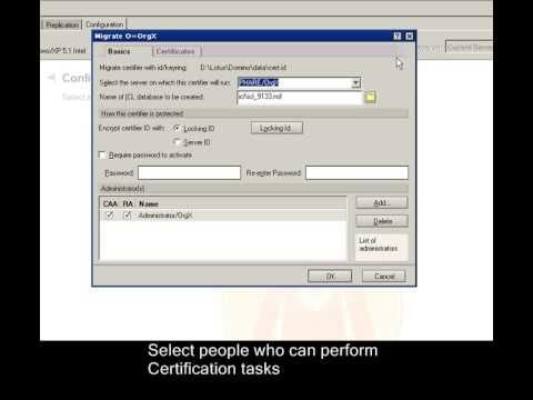 Moving Certifier to Certification Authority (CA) - YouTube