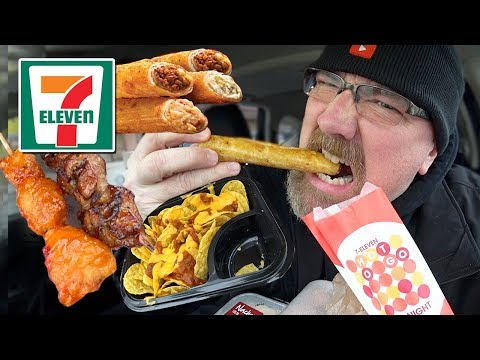 MUKBANG 먹방 | 7-ELEVEN EATING SHOW – Taquitos, Kebabs & Nachos | How I met my wife