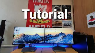 How To Connect Two Monitors To One PC : Tutorial