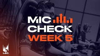 LEC : le Mic Check de la semaine 5 Summer Split