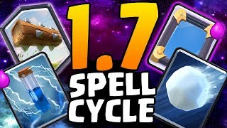 INSANE 1.7 SPELL CYCLE! 5 SPELLS DECK! | Clash Royale