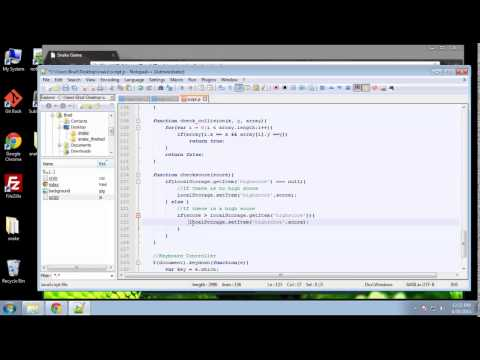 Projects in HTML5 – Chapter 23 – Snake Game Scripting Part 4