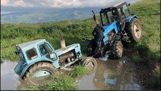 Трактор Беларус или Трактор Т40  в болоте воде | Тюнинг Что Лучше?