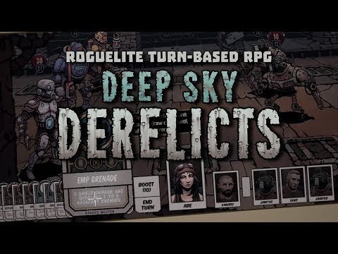 Deep Sky Derelicts | Roguelite Turn-based RPG - Early Access Launch Trailer (2017) thumbnail
