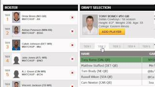 What is a Pickem League in Fantasy Football?  How to Play Pick'em on Draftstreet.com