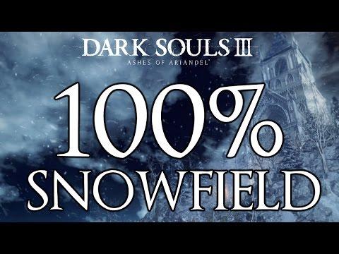 Dark Souls 3 Ashes Of Ariandel 100% Walkthrough #1 Snowfield (All Items & Secrets)