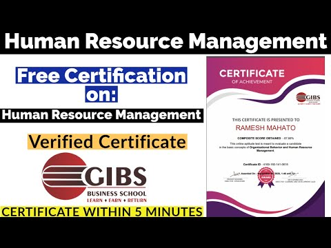 Free Certificate | Human Resource Management Course - YouTube