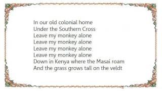 Warren Zevon - Leave My Monkey Alone Spanish Lyrics