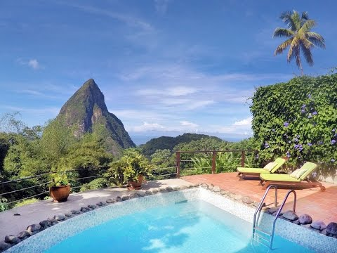 Coco Pitons Villa in Soufriere with View of Pitons Mountains