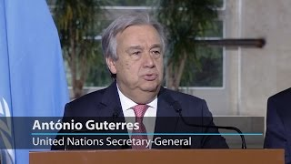 """Secretary-General Guterres: """"We are looking for a solid and sustainable solution for Cyprus"""""""