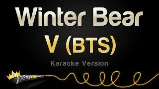 V (BTS)   Winter Bear (Karaoke Version)