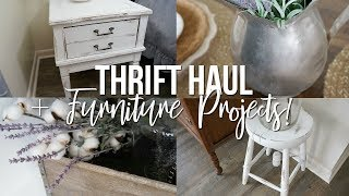 THRIFT HAUL + FURNITURE PROJECTS!!