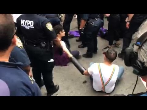 Protesters arrested at NYC Pride parade
