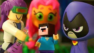 РОБЛОКС и Юные Титаны, Вперед! Лего НУБик Майнкрафт Мультики - LEGO Minecraft Мультфильмы