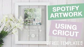 Spotify Glass Artwork using Cricut [As seen on Tik Tok!]