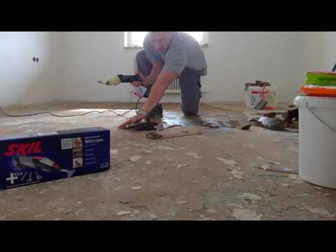 Linoleumkleber entfernen
