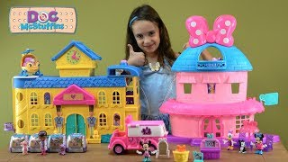 Doc McStuffins Toy Hospital Story With NEW Minnies Happy Helpers Van And Surprise Toy Friends
