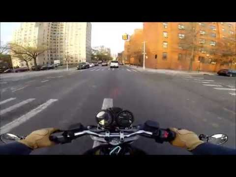Video Monster NYC Vlog 4 - Benefits of motorcycles. Reasons to ride. Barcley Center