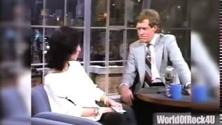 CHER calls LETTERMAN an A-Hole (She's Serious) then wants Dave to pay Her Hotel Bill!