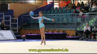 preview picture of video 'Grand-Prix Holon 2013 - PreJunior - 02 - Nicole Zelikman - Ball'