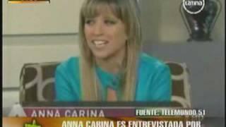 """Anna Carina en Telemundo """"Acceso Total"""""""