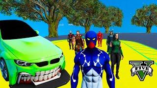 Сhallenge HOT WHEELS CARS & SpiderMan Cosmic Superheroes GTA V MODS ! Машины Хот Вилс и СуперГерои !