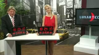 Lunartec Multi-LED-Uhr mit Datum & Temperatur