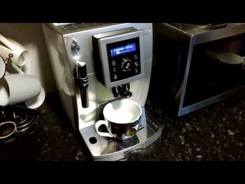 Delonghi ECAM23.420 Bean to Cup Coffee Machine - Options and cycle