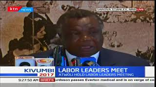Labor leaders : Francis Atwoli meets labor leaders