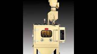 6060rs With Rotary Head Batch Air Blast System, 48″ Turntable, Part Blast, 3/25/2014