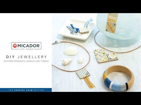 Micador For Home DIY Jewellery Kit Threaded - Coastal Calm