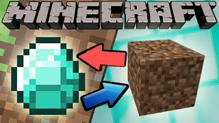 If Diamonds and Dirt Switched Places - Minecraft